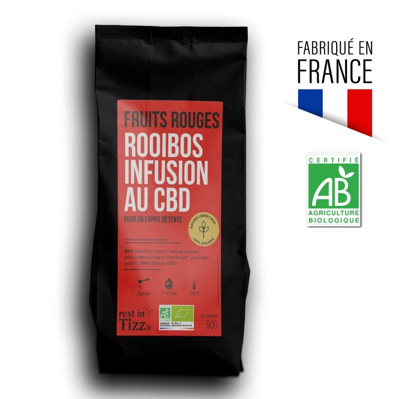 ROOIBOS INFUSION BIO AU CBD FRUITS ROUGES BY TIZZ®