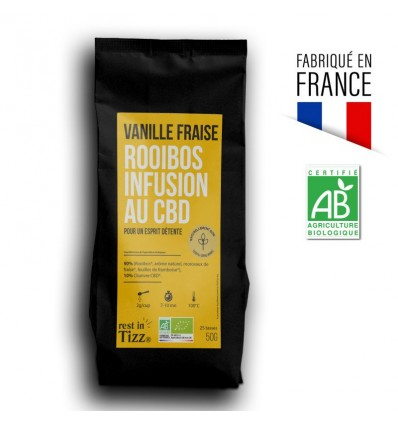 ROOIBOS BIO INFUSION AU CBD VANILLE FRAISE BY TIZZ®