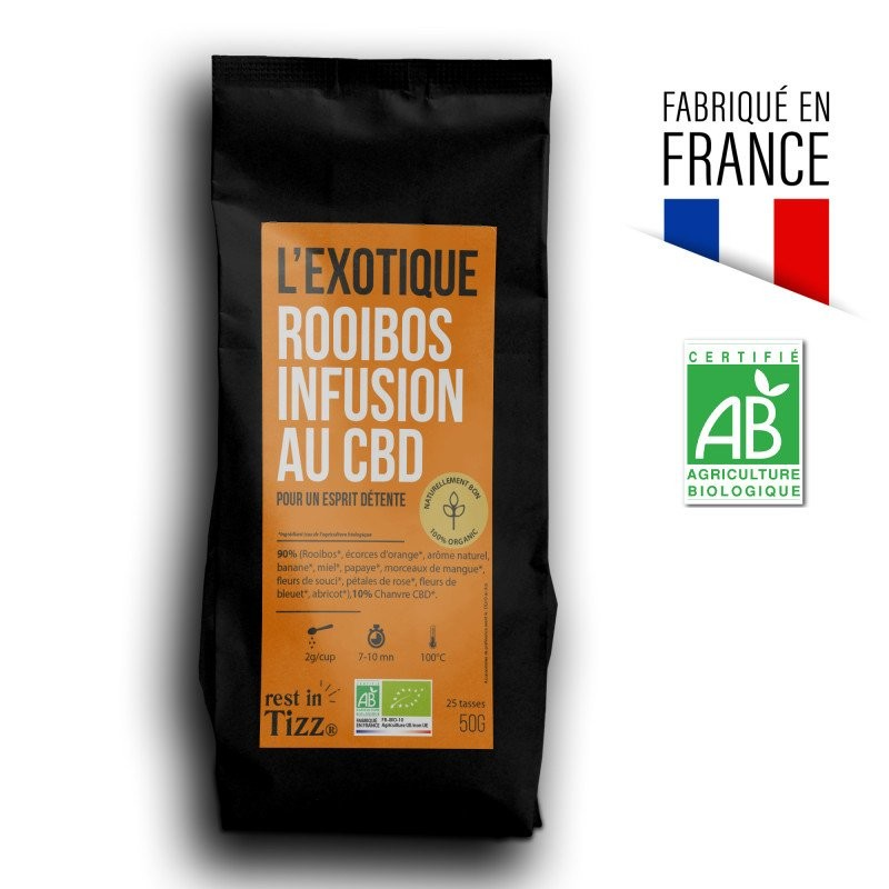 ROOIBOS BIO INFUSION AU CBD L'EXOTIQUE BY TIZZ®